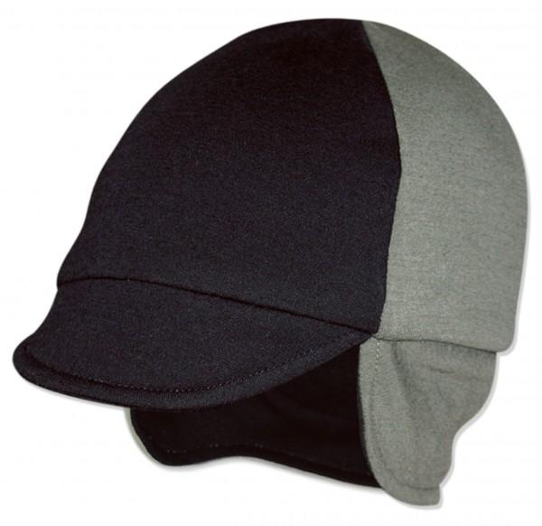 Wollmütze Wendemütze Schwarz/Grau
