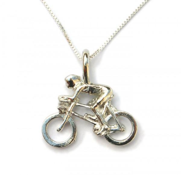 Schmuck Fahrrad Anhänger Biker mit Kette