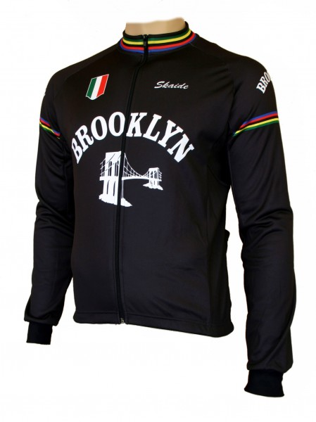 Radtrikot Retro Brooklyn Langarm