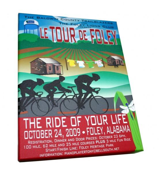 Tour de Foley Leinwanddruck 40x30
