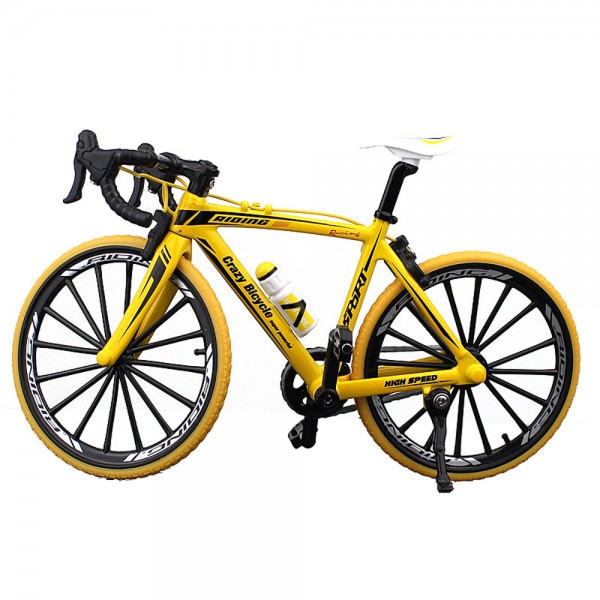 Fahrrad Modell 1:10 Rennrad Gelb