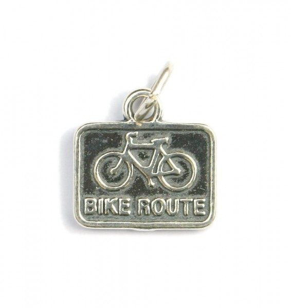 Anhänger Silber Bike Route