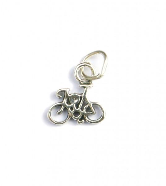 Anhänger Silber Rennrad Mini