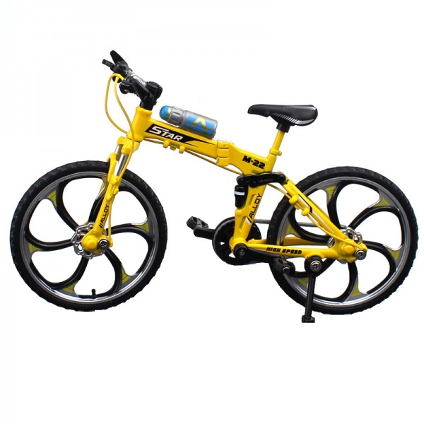 Fahrrad Modell 1:10 Mountain Bike Gelb