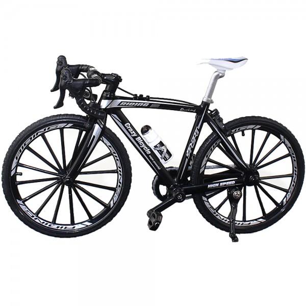 Fahrrad Modell 1:10 Rennrad Schwarz