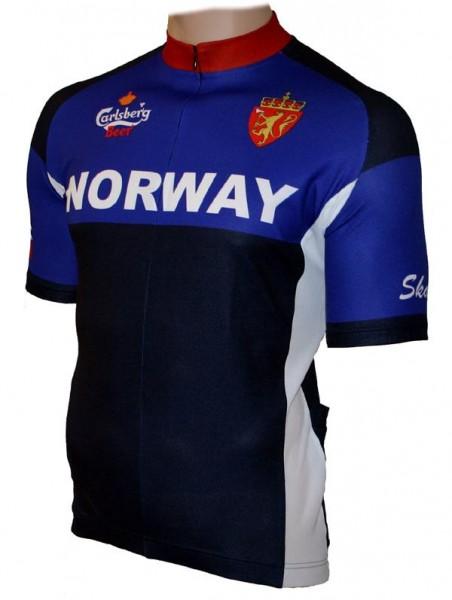 Fahrradtrikot Norwegen Norway blue