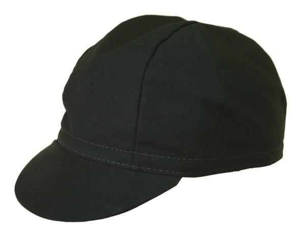 Radmütze schwarz unifarben Radlercap