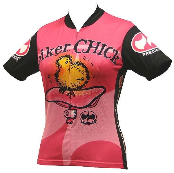 Damen Radtrikot Biker Chick Pink