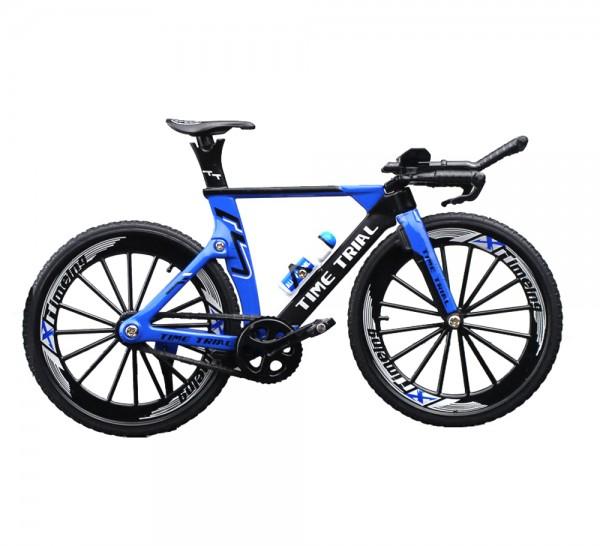 Triathlon Rennrad Miniatur Maßstab 1:10 Farbe blau