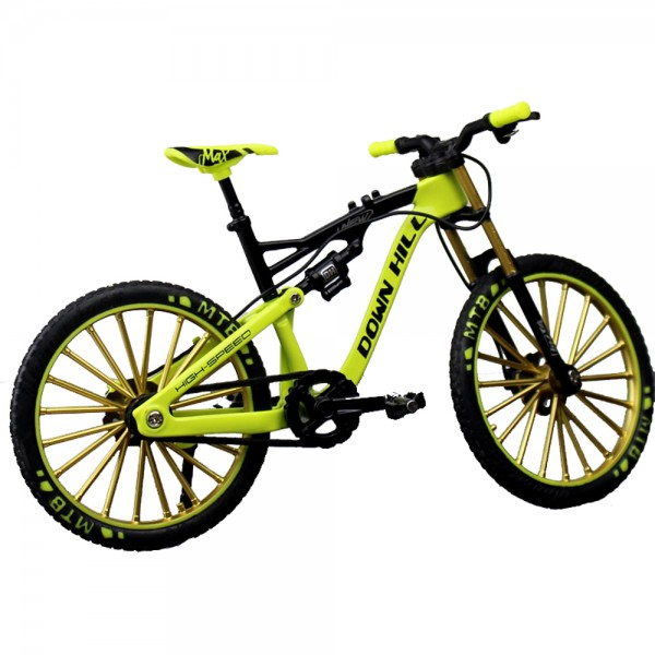 Miniatur Mountain Bike Downhill Gelb