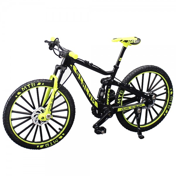 Miniatur Mountain Bike Slalom gelb