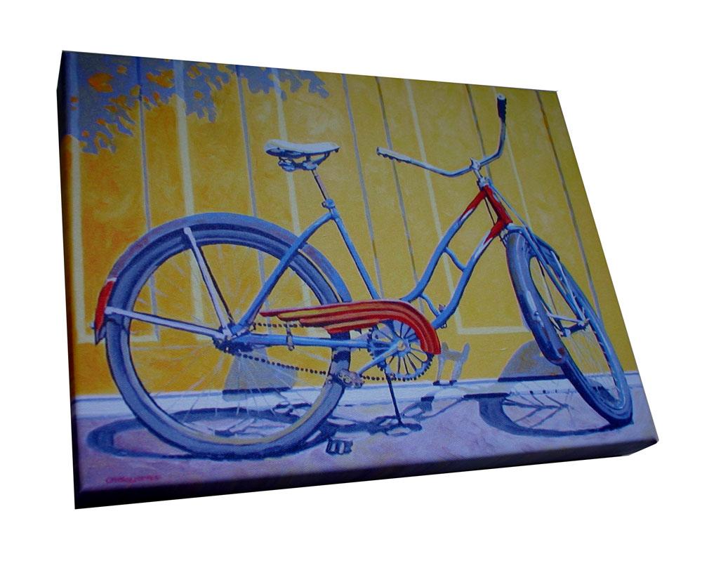 ladybike leinwanddruck 40x30 geschenke f r radfahrer. Black Bedroom Furniture Sets. Home Design Ideas