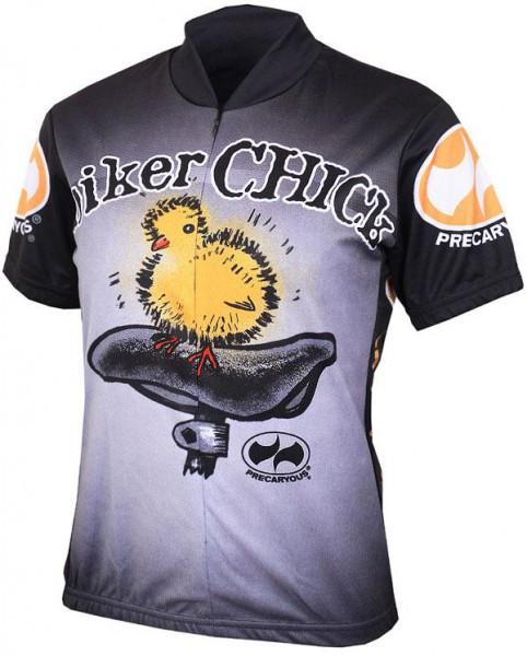 Damen Radtrikot Biker Chick Schwarz