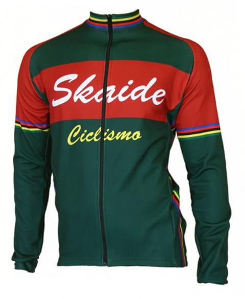 Radtrikot Skaide Ciclismo Green Langarm
