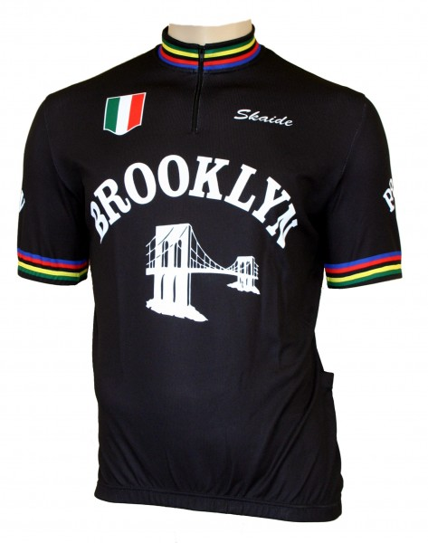 Radtrikot Brooklyn Retro Black Schwarz