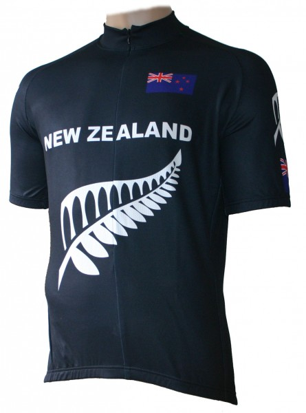 Radtrikot New Zealand Neuseeland All Black