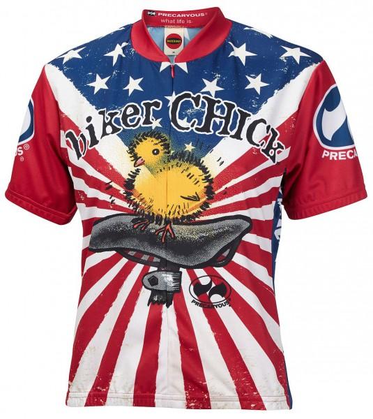 Radtrikot Damen Biker Chick America