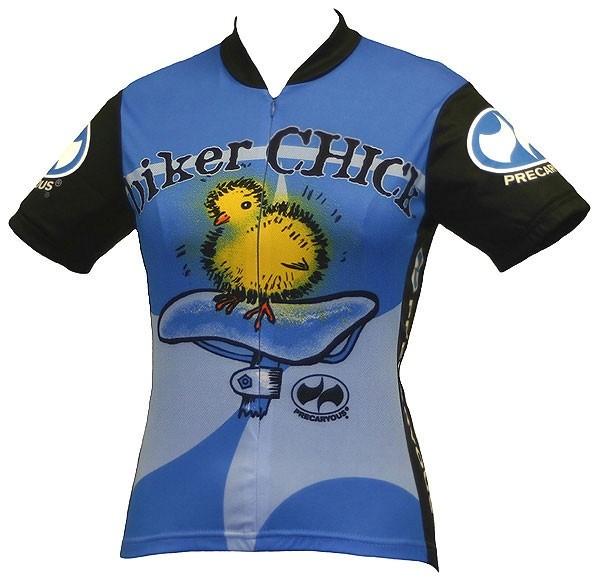 Damen Radtrikot Biker Chick Blau