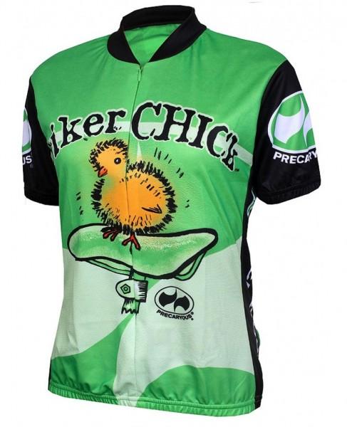 Damen Radtrikot Biker Chick Lime