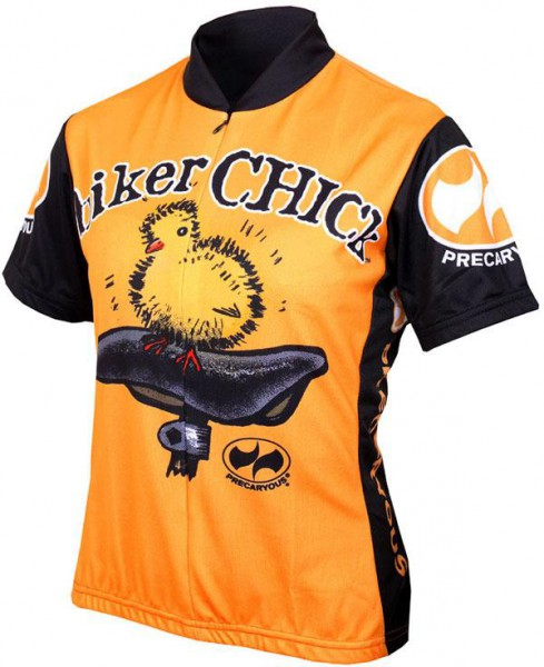 Damen Radtrikot Biker Chick Orange