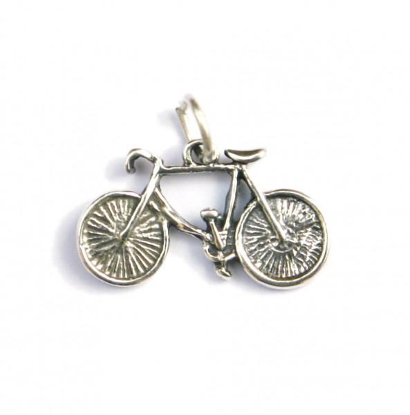 Anhänger Silber Rennrad 7187