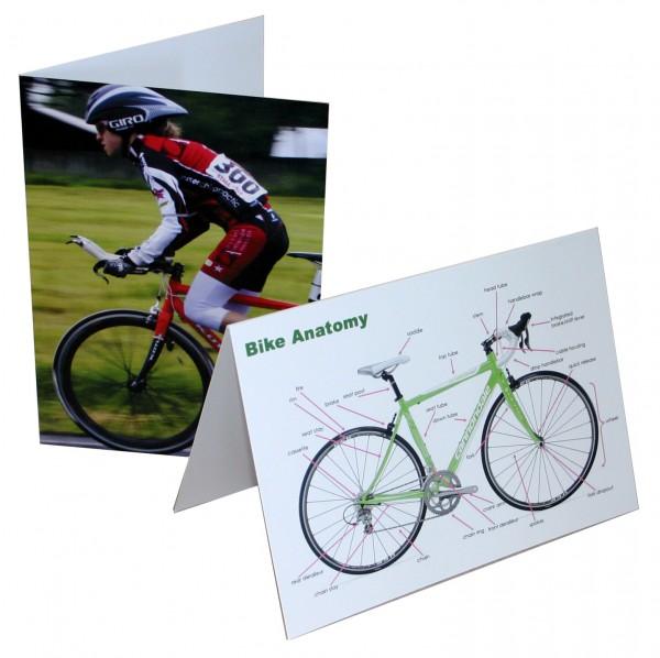 Grußkartenset Fahrrad 4 Stück