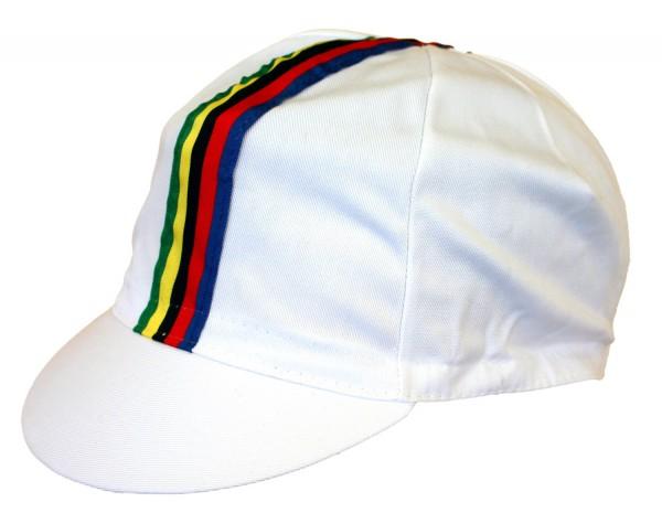 Radmütze Weltmeister Weiß